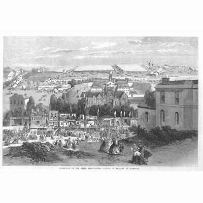 £12.95 • Buy PLYMOUTH View Of The Royal Agricultural Society Show Yards - Antique Print 1865