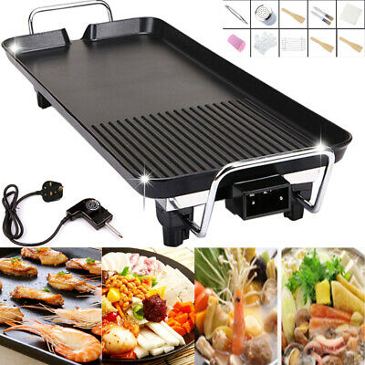 Electric Table Top Grill BBQ Barbecue Garden Camping Cooking 1400W Indoor Or Out • 26.58£