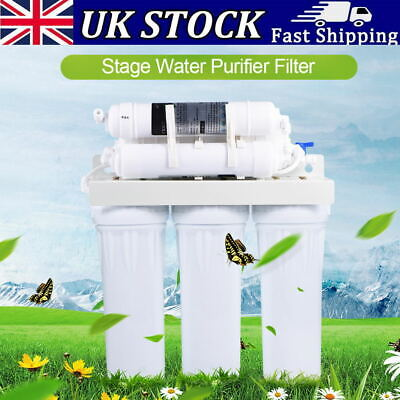 6 Stages Water Purifier Filter Reverse Osmosis Drinking Water Filtration System • 54.85£