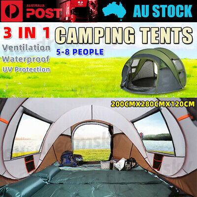 AU89.88 • Buy Quick-open Tent Outdoor Camping Field Tents Camping Rainproof Boat Account New