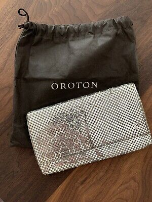 AU38 • Buy OROTON Glowmesh Mesh Clutch - Excellent Condition, Rarely Used - Silver