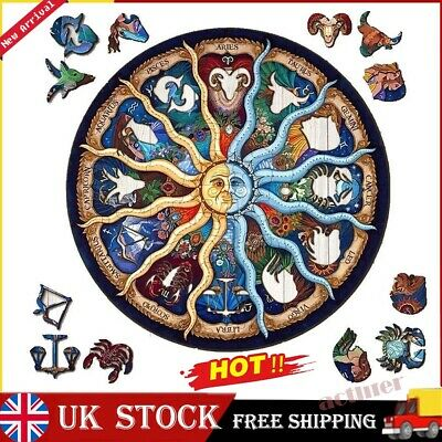 £10.09 • Buy Wooden Jigsaw Puzzle Zodiac Unique Shape Jigsaw Pieces Adults Kids Toy Gift UK