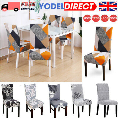£4.49 • Buy Stretch Dining Chair Covers Slipcovers Wedding Home Decor Seat Covers UK FAST