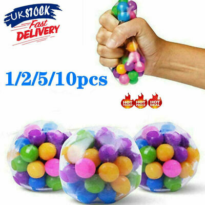 1-10PCS Sensory Stress Reliever Ball Toy Autism Squeeze Anxiety Fidget Toys UK • 3.98£