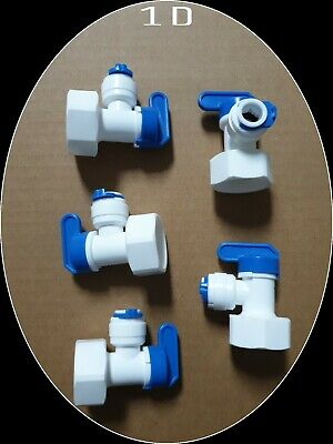 £12 • Buy 5 X Tank Ball Valve Tube Fitting Adaptor For RO Water Reverse Osmosis Filter