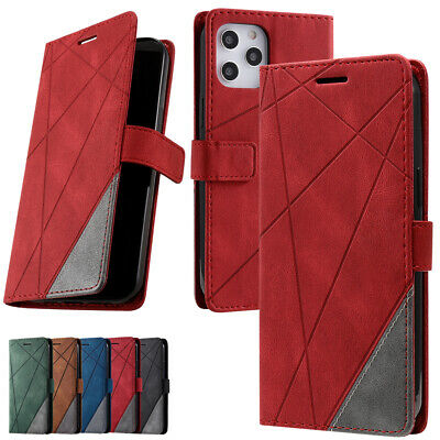 Leather Card Holder Flip Wallet Stand Cover Case For IPhone 12 11 Pro MAX X Xr • 4.99£