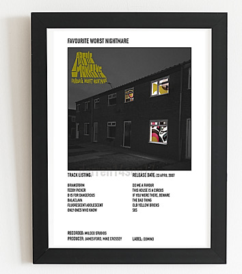 £7.99 • Buy Arctic Monkeys Poster Polaroid Style Indie Album Art Poster A3 /A4 Valentines