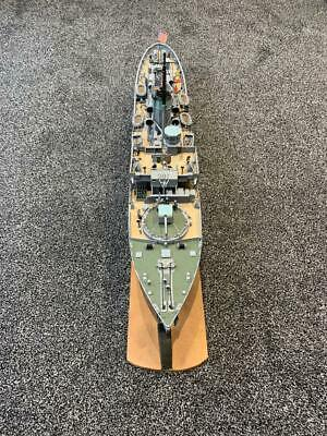U.S.N USS Saucy PG 65 Corvette RC Boat Project (35 ) With Acoms 2 CH Receiver • 70£