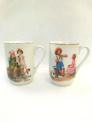 $ CDN22.29 • Buy Norman Rockwell Vintage Cups 1982 Lot Of 2 Coffee Mugs The Cobbler Music Master