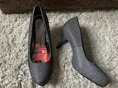 New - Ladies Super Sparkly Silver  Shoes - Size Uk  7 • 9.99£