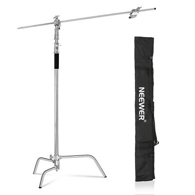 AU119.99 • Buy Neewer 10 Feet C-Stand Light Stand With 4 Feet Extension Boom Arm, Grip Head