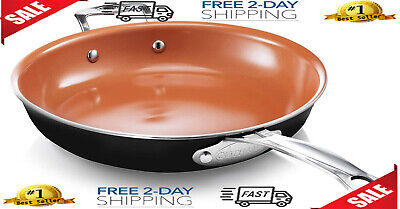 """$59.99 • Buy Gotham Steel 12"""" Fry Pan With Ultra Nonstick Titanium And Ceramic Copper Coating"""