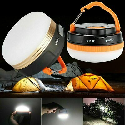 £12.95 • Buy 2PCS Portable 3 Modes LED Light Lantern Lamp Camping Tent Torch Rechargeable UK