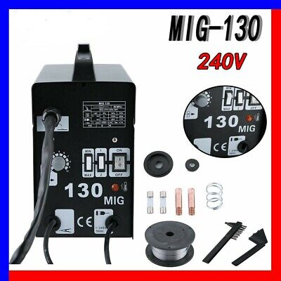 New Professional MIG 130 No Gas / Gasless Mighty Mig Auto Wire Feed Welder DR • 87.90£