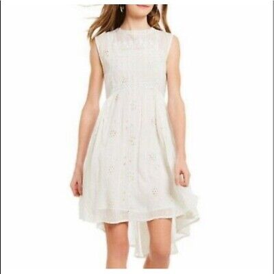 Chelsea & Violet Eyelet Lace Dress M Women's Casual High-Low Lace Boho NEW 17151 • 21.41£