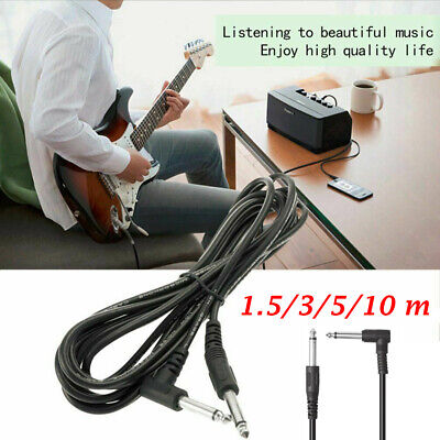 $ CDN5.24 • Buy Musical Instrument Right Angle Amp Cord Adapter Electric Guitar Amplifier Cable