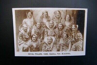 ROYAL FOLLIES 1935, CENTRAL PIER. BLACKPOOL Real Photo Postcard By J Capstack • 3.99£