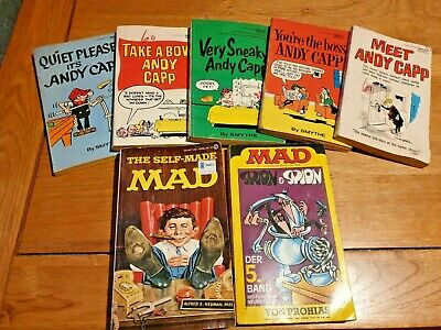Andy Capp Books & The Self Made Mad Book - 7 Books In Total *Used • 2.99£
