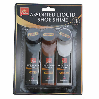 £1.99 • Buy Assorted Liquid Shoe Polish Black Brown And Natural Leather Shoe Shine