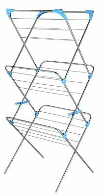£25 • Buy Minky Plus 21m 3 Tier Indoor Clothes Airer - Silver