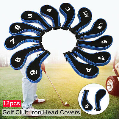AU27.95 • Buy Golf Clubs Set Iron Clubs Covers Golf Club Tag Numbered Covers Protectors 12pcs