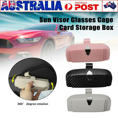 AU15.76 • Buy Universal Car Sunglasses Case Holder Sun Visor Glasses Cage Card Storage Box AU
