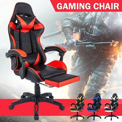 AU109 • Buy Gaming Chair Office Executive Computer Chairs Seating Racing Recliner 360°Swivel