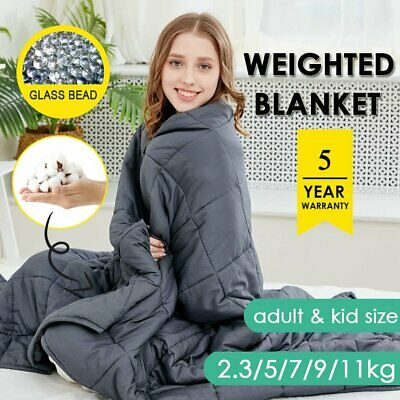 AU62.99 • Buy Weighted Blanket 11/9/7/5/2.3KG Kids Adult Soft Cotton Cover Heavy Gravity Relax