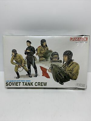 Dragon 3010 1/35 Scale Soviet Tank Crew Figures New Sealed • 15.99£