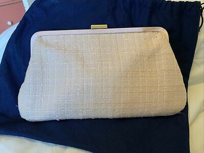 Vintage Viyella Clutch Hand Bag With Original Protective Drawstring Storage Bag • 4£