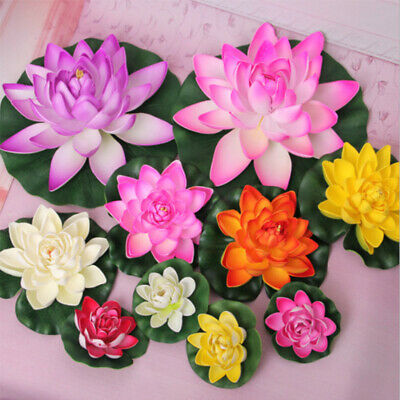 $ CDN5.50 • Buy 10/18/28cm Artificial Floating Water Lily  Lotus Flower For Home Garden Pond CA