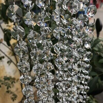 £4.39 • Buy 50pcs Clear Cut Glass Crystals Beads Chandelier Spare Light Parts Drops Durable