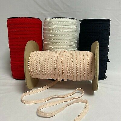 (5m Or 10m) Scalloped Picot Elastic 9mm Edging Ribbon Lace Lingerie Underwear • 2.59£