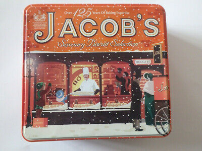JACOBS Savoury Biscuit Selection - Christmas Tin -125 Years Of Baking Expertise • 2.75£