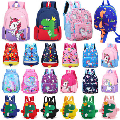 Unicorn Dinosaur Toddler Kids Boys Girls Backpack Nursery School Rucksack Bag • 10.82£