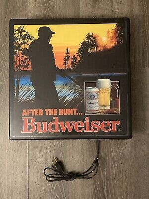 $ CDN127.16 • Buy Vintage Budweiser Lighted Bar Sign, After The Hunt 1984