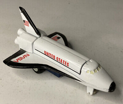 """3"""" USA White Space Shuttle Diecast Model Toy W/ Pull Action United States NASA • 7.23£"""