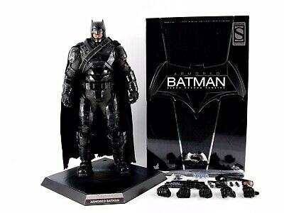 Hot Toys MMS356 BVS Armoured Batman Black Chrome Sideshow Exc 1/6 Scale Figure • 310£