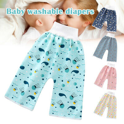 AU12.99 • Buy Baby Children Diaper Skirt Shorts Waterproof Toddler Absorbent Pants Washable MO