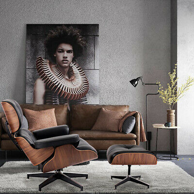 AU729 • Buy Large Eams Lounge Chair And Ottoman 100% Italy Real Leather Armchair Recliner