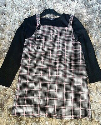 Primark Girls Check Pinafore Dress Outfit Age 5-6 Years.☆ I Combine Post ☆ • 5.50£