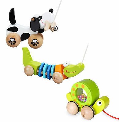 Classic World - Wooden Push And Pull Along Toys - Eco-Friendly Wood • 13.95£