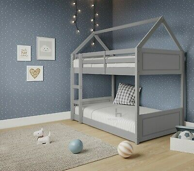 £479.99 • Buy Treehouse Single Bunk Bed Wooden Frame 3FT Kids Sleeper Pine House Canopy