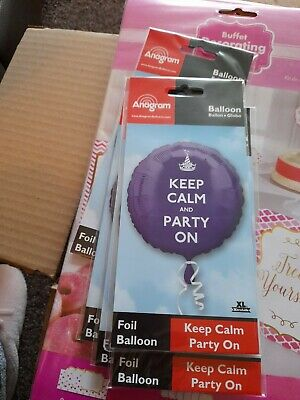 Keep Calm And Party On Foil Balloon 17in • 1.50£