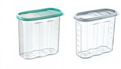 £7.95 • Buy 2 X Plastic Cereal Box Dispenser Dry Food Pasta Kitchen Storage Container 1.7L