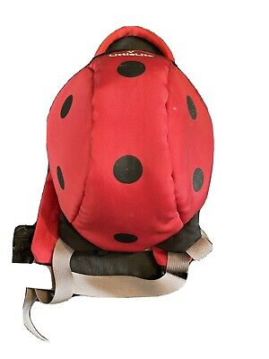 LittleLife Ladybird Backpack With Reins • 1.50£