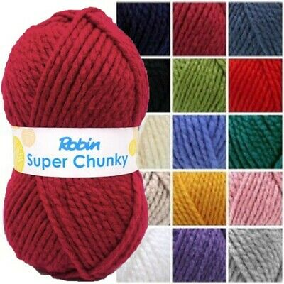 (3 Pack) Robin Super Chunky 100g Yarn Knitting Wool Various Colours Crochet • 8.65£