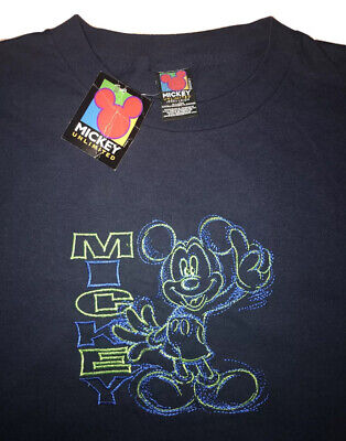 $ CDN75.77 • Buy Vintage Mickey Unlimited Jerry Leigh Embroidered T Shirt DSWT Men Size XL Disney