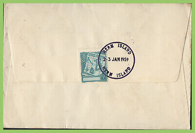 Guernsey / Herm Island 1959 1d Local Issue Map On Cover • 1.75£