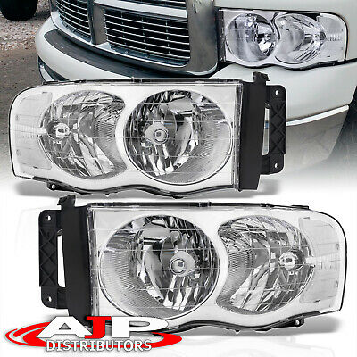 $77.99 • Buy Chrome Clear Replacement Driving Headlights Lamps LH RH For 2002-2005 Dodge Ram